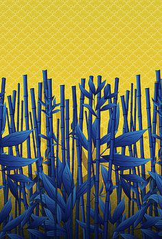 Blue Bamboo by Noel DelMar