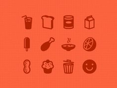 Feedreport icons dribbble #cupcake #icons