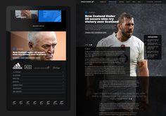 #webdesign #sports #rugby #dark #DNA