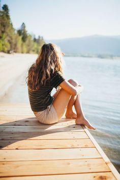 Likes | Tumblr #sun #water #girl #summer #bridge