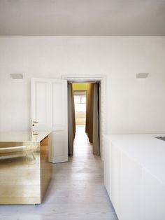 Apartment with brass cube by CKR emmas designblogg #interior #design #decor #deco #decoration