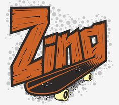 Zing by Roman Hermens #skateboard #wood #illustration #zing