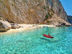 Greece, Aspri Ammos Beach, Othoni Island