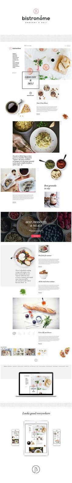 Bistronóme — Naming, Logotype & Website on Behance #restaurant #webpage