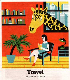 illustration #illustration #giraffe #travel
