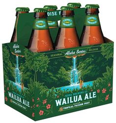 Kona Wailua Ale Packaging #packaging #beer #label #bottle