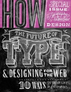 Typeverything.com - How Magazine July 2012 cover... - Typeverything #lettering #typography
