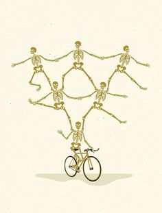 SYMBOL SOCIETY — VALENCIA SPIRIT #skeletons #valencia #san #bike #bicyclists #francisco #spirit