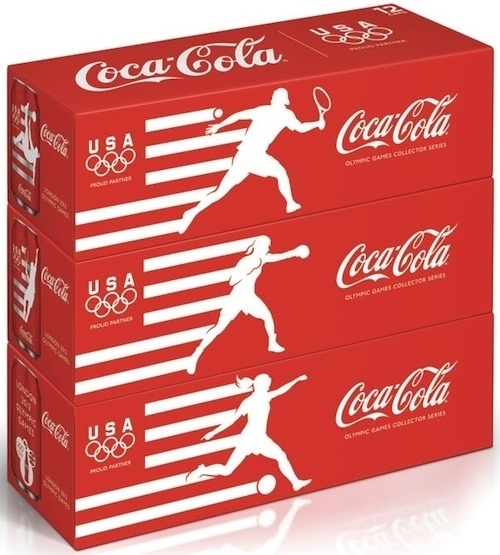 Coca-Cola Reveals Limited-Edition London Olympic Cans For Team USA - DesignTAXI.com #branding #packaging #coca #olympics #cola