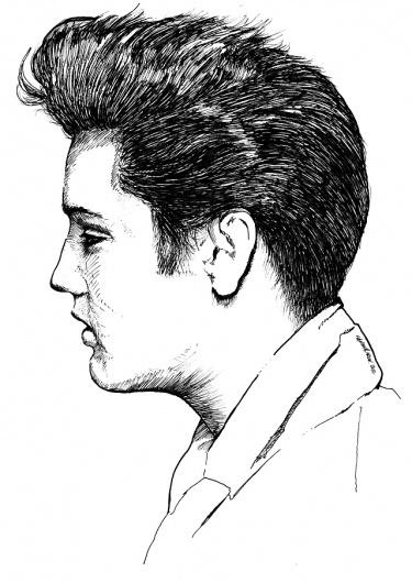 Elvis Presley® —The King Of Rock #elvis #rockabilly #rock #presley #fifties #sixties #hair #music #king