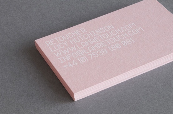 business card #business #pink #card #layout #typography