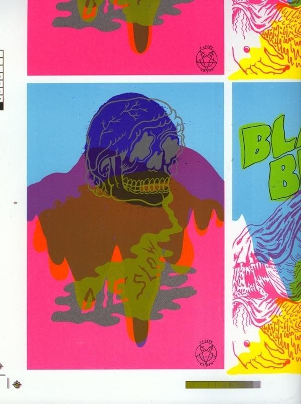 Bill Connors Fking Rules #connors #print #juxtapoz #bill #screen #illustration #skate #poster #cmyk #skull