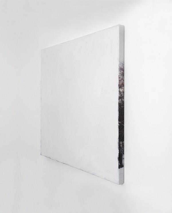 Conclusie 'Santa Moritz', 'Swiss Landscape' 2008 Acrylic paint on photograph on canvas 96 x 102 cm