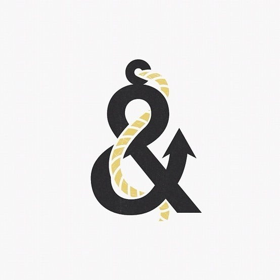 Typography / The Anchorsand by David Schwen. #ampersand #anchor #sea #rope