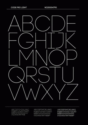 Merde! - Typeface (Code Pro Light) #code #typeface #light #pro #typography