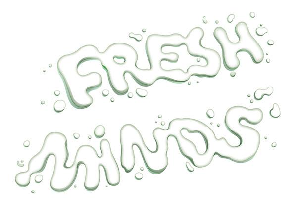 Fresh Mind - Drop Lettering #lettering #white