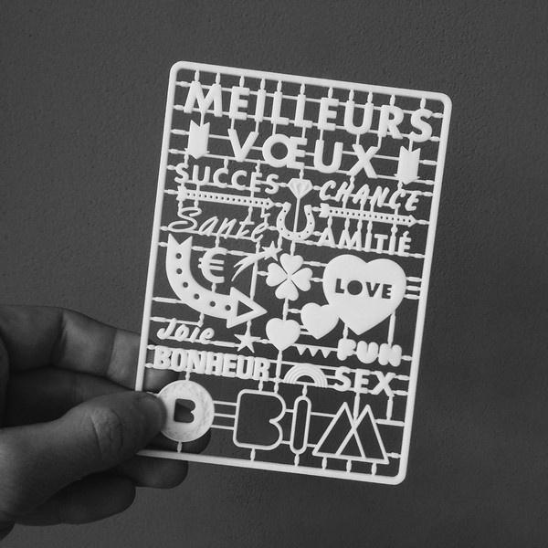 BIM Agency 3D Printed Greeting Card 3D #agency #card #printing #french #greeting #plastic #3d