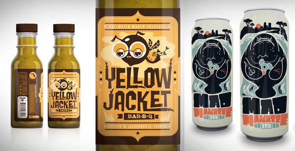 Kendrick Kidd #glasses #beer #bee #label