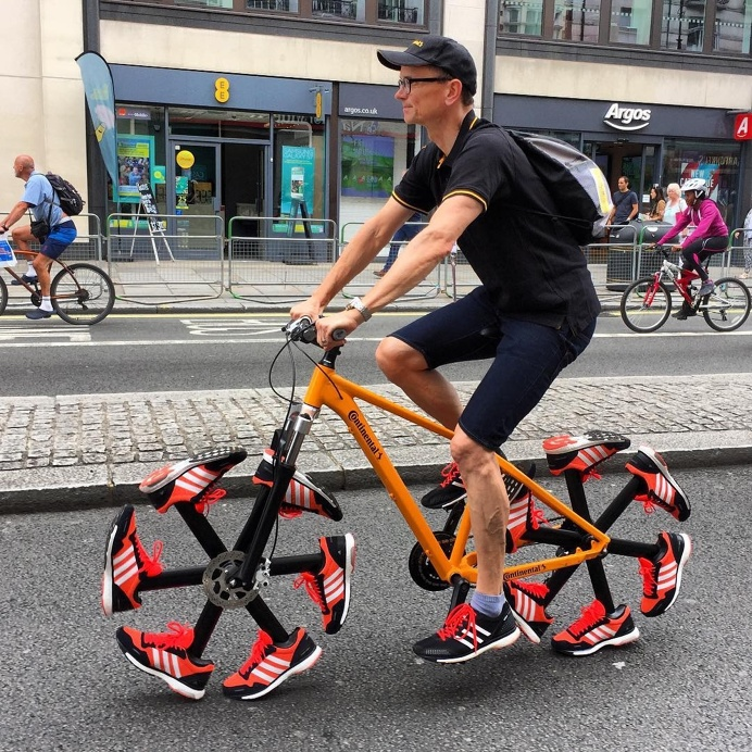 Unique Running Shoe Bike at Prudential RideLondon