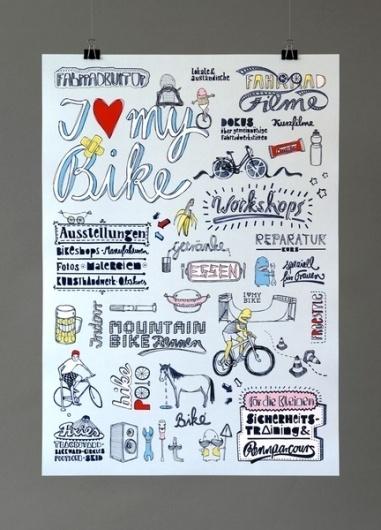 http://pinterest.com/pin/34199278390055930/ #bike #handwritten #poster