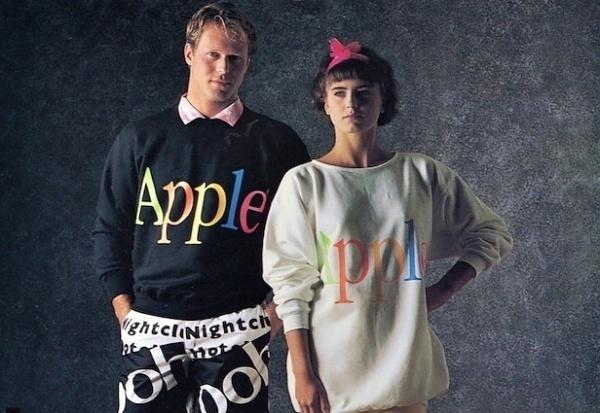 Apples 1986 Clothing Line #fashion #apple #clothing #1980s