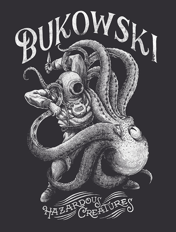 T-shirt design for the french band BUKOWSKI