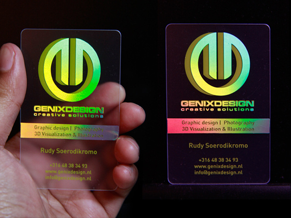 Holographic Business Card Inspiration Creative Design