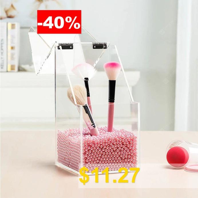 Acrylic #Transparent #Cosmetics #Storage #Box #- #TRANSPARENT