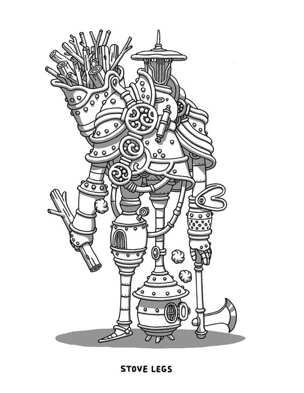 Stove Legs on Behance #warrior #illustration