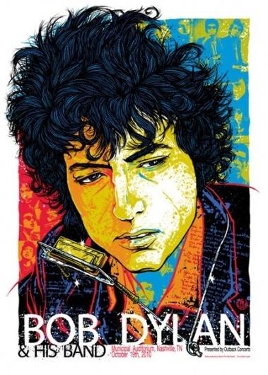 GigPosters.com - Bob Dylan #bob #illustration #rhys #dylan #poster #cooper