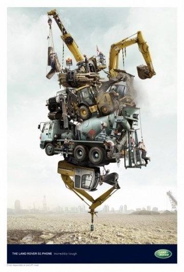 I Believe in Advertising | ONLY SELECTED ADVERTISING | Advertising Blog & Community » Land Rover S1 Phone: Safari, Construction, Rescue #advertising