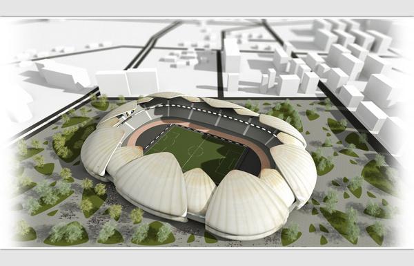Batumi Arena. #inspiration #design #stadium #batumi #architecture #minimal #arena #football #steepstudio