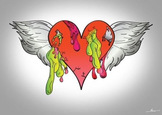 Liquid heart by ~Robinvaneijk #heart #vector #color #liquid #art