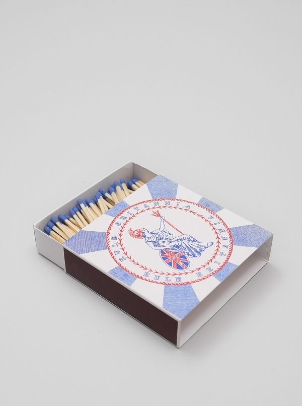 A Fine Match Match Box Co - Rule Britannia   Present London #matchbox #british #match #a #packaging #design #co #box #package #fine
