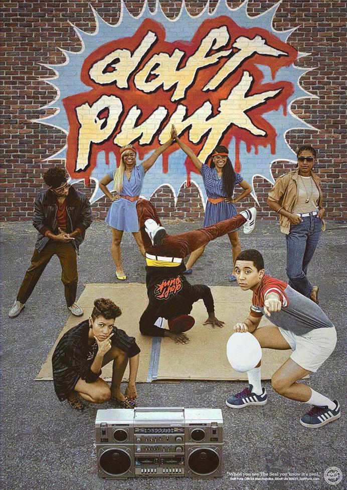 Daft Punk Releases Retro Merchandise Posters
