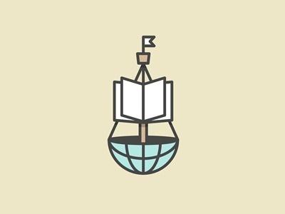 Knowledge_ship #icon #logo #book #nautical