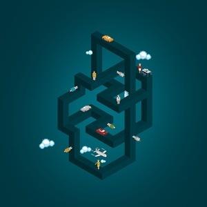 Raimundo Britto #illustration #isometric #geometry #escher