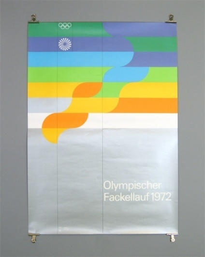 B&U (By Otl Aicher) #olympic #color #theory #poster