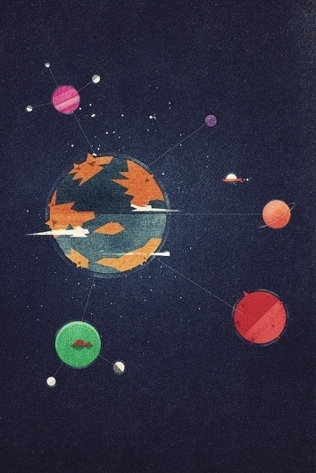 Dan Matutina Creates Edgy Google Planets World for Google Plus Course | Ape on the Moon: Contemporary Visual Arts