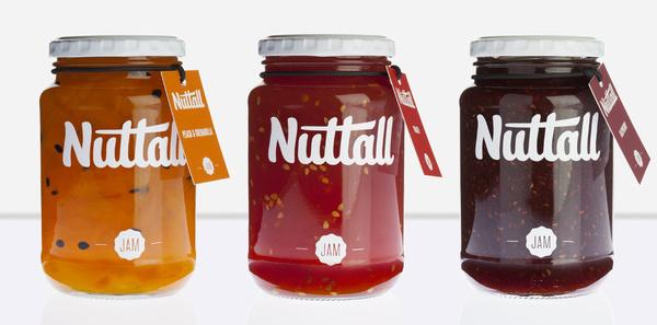 Nuttal   Lovely Package #script #jam #packaging #preserves #brush