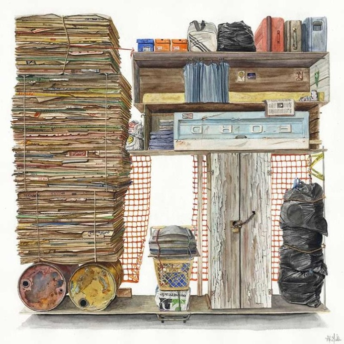 Organized Trash: Watercolor Paintings by Alvaro Naddeo