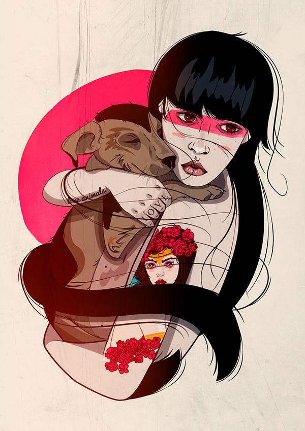 Saskia Diaz #illustration #grils