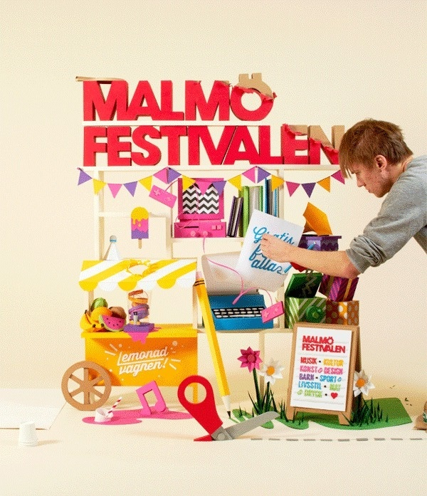 Malmxc3xb6 Festival 2013 on Behance #snask #handmade #paper