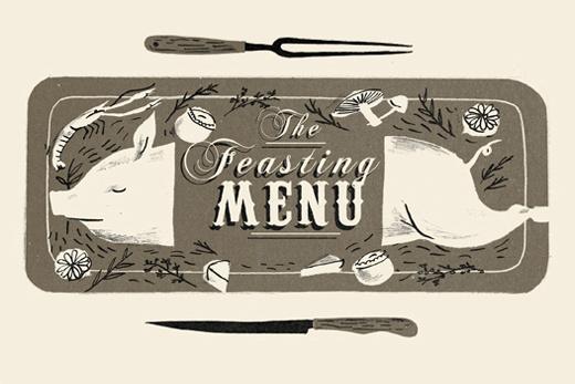 feasting menu website sizeB #illustartion #wrap