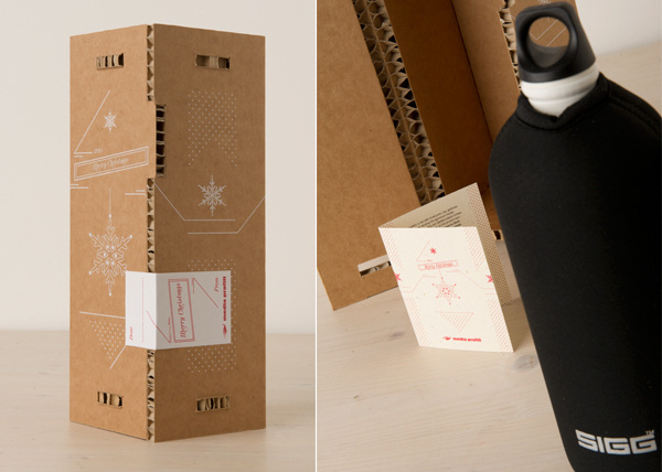 Un pensiero sostenibile on Behance #sustainable #packaging #christmas #present #gift #friendly #eco