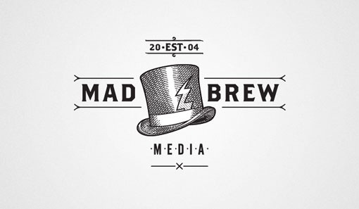 design work life » Adam Hill: Mad Brew #logo #branding #typography