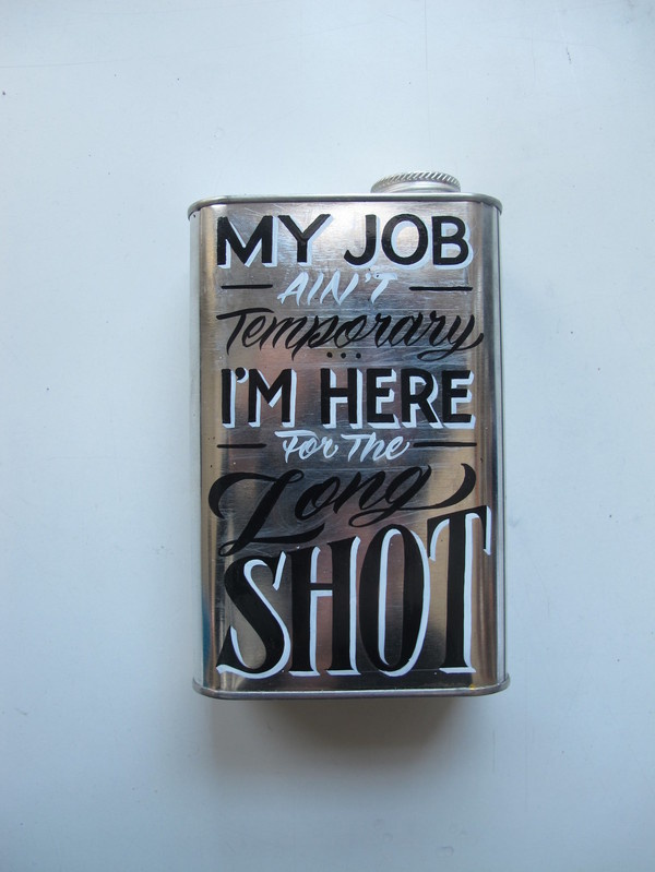 Typeverything: Photo #flask #paint #lettering #handmade