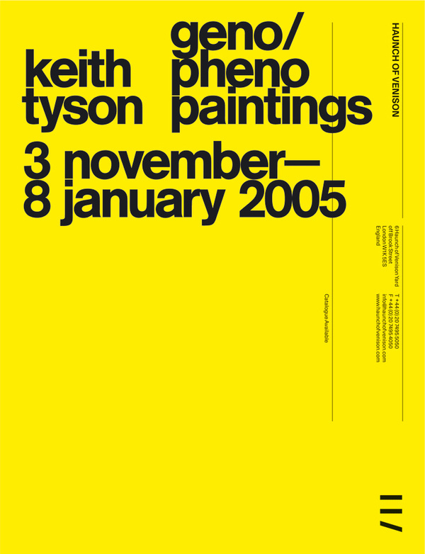 Spin — Haunch of Venison advertising #poster