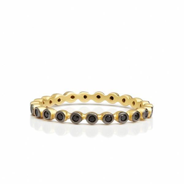 Black Stone Beaded Ring – Freida Rothman   Price: $50.00   Product details @ https://bit.ly/2m7IrQ3. Buy now! #Rings #Jewelry #Fashion #FreidaRothman #NYC #NewYork #Brooklyn