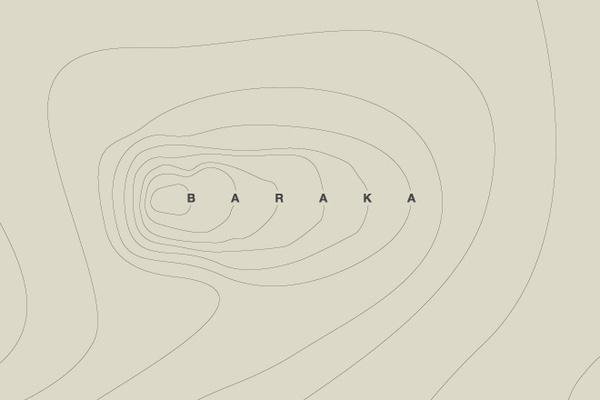 Baraka #ground #lines #baraka #map #contour #guerrero #brand #andrs #logo